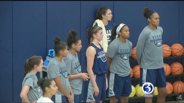 University of Connecticut Women's Basketball team is practicing hard for the upcoming season. (WFSB)