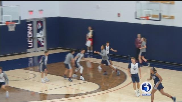 UConn Women's Basketball team practices ahead of the upcoming season. (WFSB file photo)