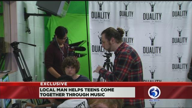 Jeff 'Gitty' Gitelman is helping teens come together through music. (WFSB)