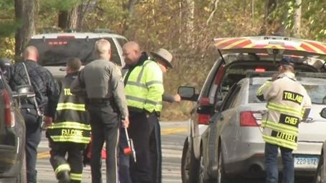 The driver of a vehicle suffered life-threatening injuries after their car crashed into a tree in Tolland. (WFSB)