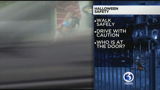 Police offer safety tips for this Halloween night. (WFSB)
