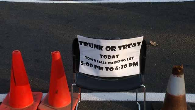 Portland hosted a trunk-or-treat at town hall on Tuesday (WFSB)