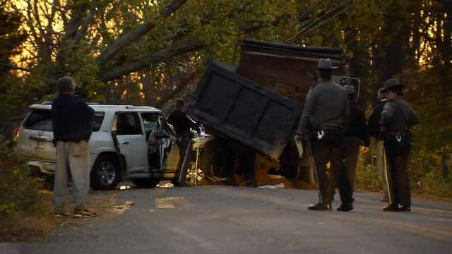 A serious crash closed a road in Lebanon on Tuesday afternoon (WFSB)