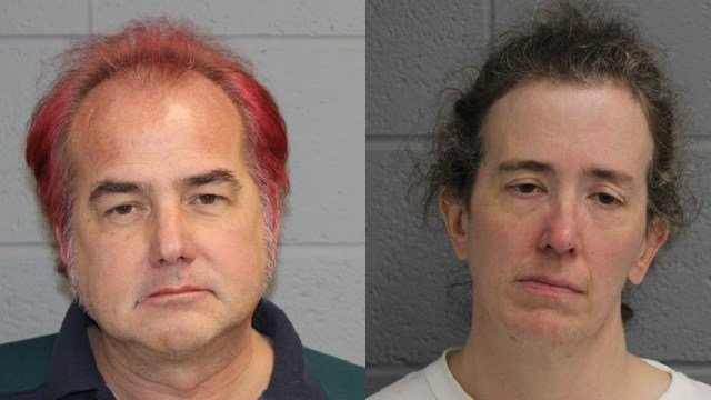 Ronald Przybylo and Maryellen Przybylo were arrested for a threatening and animal cruelty case in North Haven, police said. (North Haven police)
