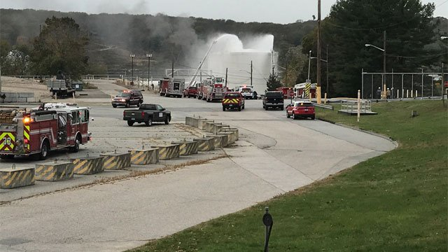 The fire was reported at Dow Chemical Plant in Gales Ferry on Wednesday afternoon. (WFSB)