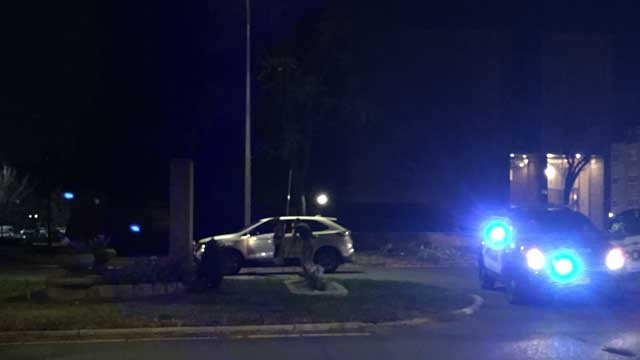 A person was hit by a car in Meriden on Thursday evening (WFSB)