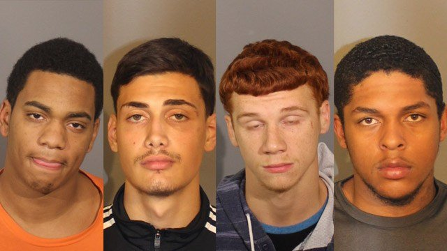 Camron Wilson, Cristian Centeno, Antonio Luna and Cameron Tallman were arrested for a shooting and robbery in Danbury that happened in September. (Danbury police)