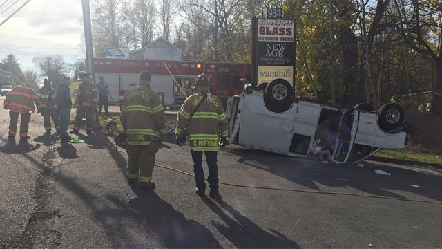 Police are investigating a serious crash on Friday morning. (Brookfield Vol. Fire Dept. Candlewood Company Inc.)