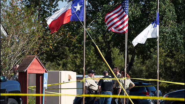 Multiple people have been killed and many more injured in a shooting Sunday at First Baptist Church of Sutherland Springs, Texas, authorities said. Credit: Nick Wagner/Austin (Source: CNN)