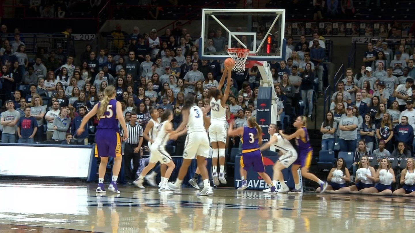 The UConn women's basketball team defeated Ashland on Sunday in its last exhibition game. (WFSB)