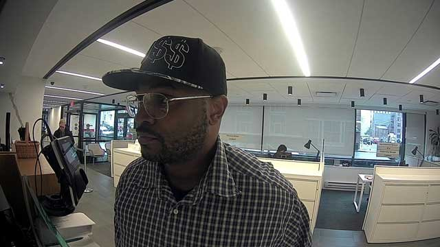 Police are searching for this man in connection with a bank robbery. (New Haven Police Department)