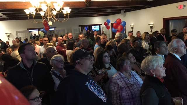 Peopel were nervously awaiting numbers at New Britain Mayor Erin Stewart's party. (WFSB)