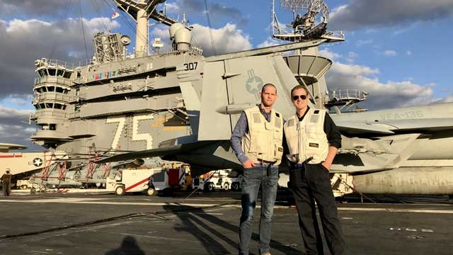 Our own David McKay took a tour of USS Harry S. Truman. (WFSB)