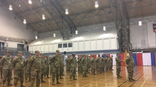 Seventy CT Guardsmen are preparing to head overseas. (WFSB)