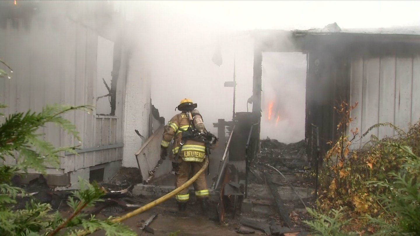Firefighters battled a fire at a home on Jobs Gate 1 on Thursday morning. (WFSB)