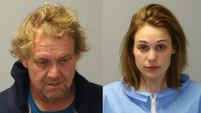 Thomas Phillips and Alisha Marie Phillips were arrested for a convenience store robbery in East Granby. (State police)