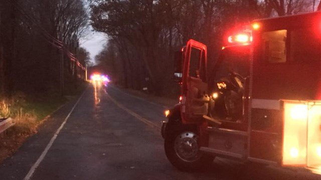 A serious crash closed a portion of Route 66 in Marlborough. (WFSB)