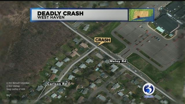 Meloy Road closes in West Haven for deadly crash