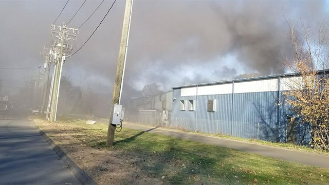 Two Rex Forge employees were injured after a fire on Sunday. (VIEWER PHOTO)