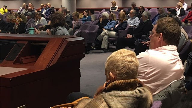 Dozens attended a public hearing for Monday to discuss allegations of severe patient abuse at the Connecticut Valley Hospital in Middletown. (WFSB)