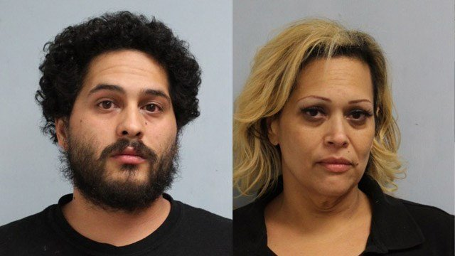 William Ortiz and Belinda Ortiz face charges in connection with the attack of a woman in Willimantic. (Willimantic police)