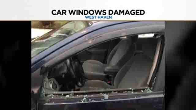 Police are investigating after several car windows were damaged overnight (submitted)