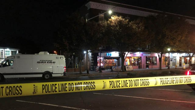 Bartender shot during robbery at Stratford bar