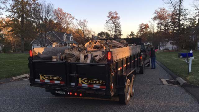 A family finally got part of their firewood delivery months after paying for it (WFSB)