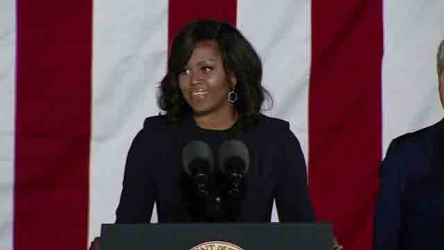 Former First Lady Michelle Obama hosted an event at The Bushnell on Thursday (WFSB)