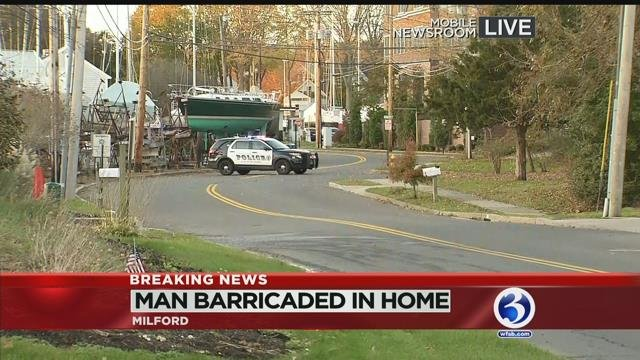 VIDEO: 'Emotionally disturbed' man prompts evacuations in Milford