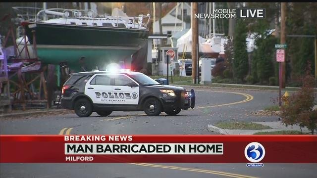 Barricaded Man prompts evacuations in Milford