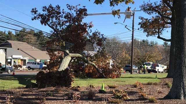 Power outages were reported along Route 44 in Avon. (WFSB)