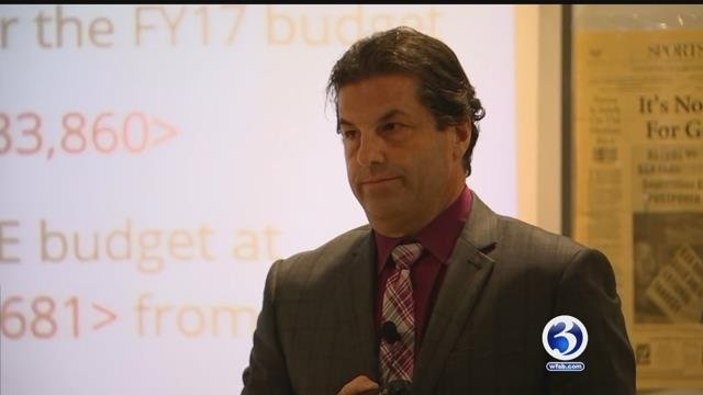 Coventry Superintendent David Petrone discussed the municipal budget could only be completed after the state budget was passed. (WFSB)