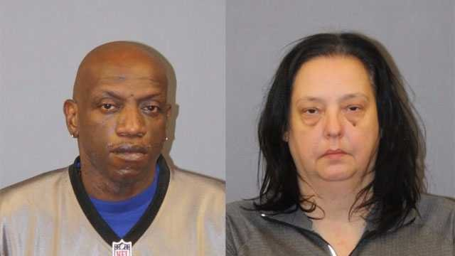 51-year-old Curtis Belin of Middletown and 48-year-old Debra McCain of Indian Orchard, Massachusetts were arrested after Belin tried to steal over $3200 worth of Apple Watches from a Wal-Mart in East Windsor. (Photo Courtesy of East Windsor Police PD).