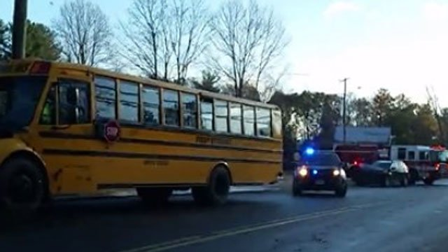 A school bus was involved in a crash in Bristol on Monday. (Namiot Dean)