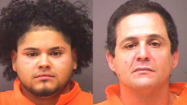 Jeremy Cruz and Luis Munoz were arrested for jumping a man and stealing his car in Norwich, police said. (Norwich police)