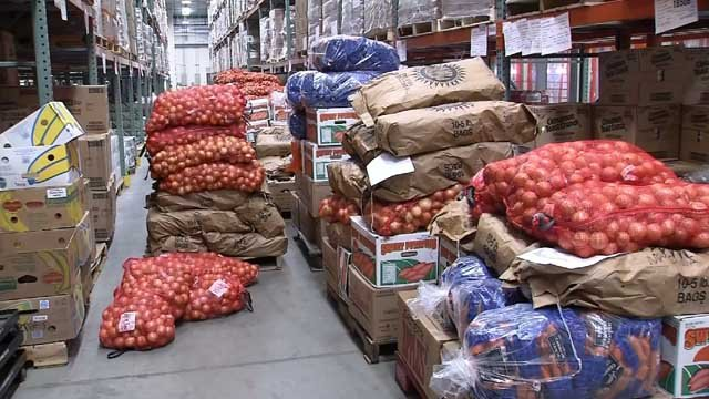Preparations are underway at the Connecticut Food Bank (WFSB)