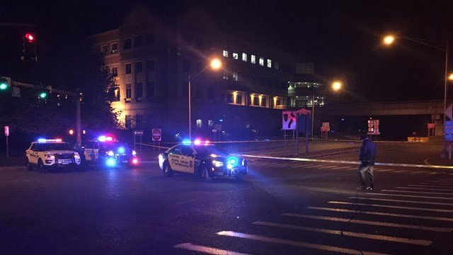 Hartford Police investigated an early morning stabbing near the state capitol. (WFSB)