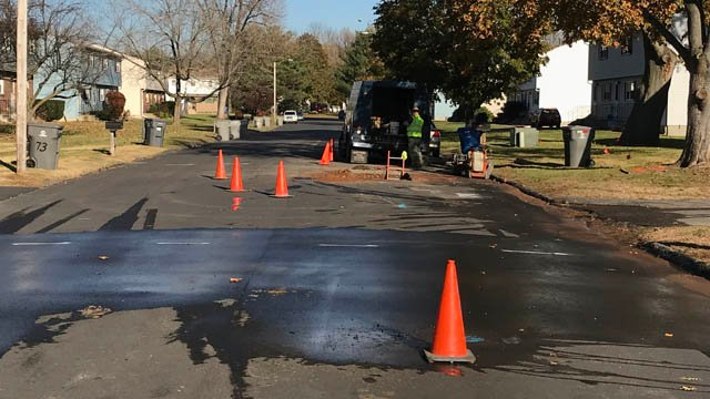 A water main break is affecting homes in the Robertson Street area of Bristol. (WFSB)