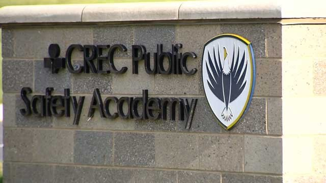 The attack happened in the parking lot of the CREC Public Safety Academy in Enfield. (WFSB)