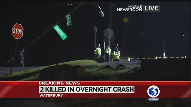 VIDEO: 2 people dead after car crash in Waterbury