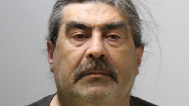 Ruberto Pasquale was arrested after police said he was touching himself while watching pornographic videos on his cell phone in a parking lot. (Ledyard Police Department)