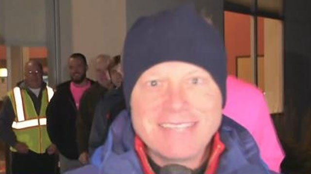 Scot Haney spent his morning at the Malibu Fitness Thanksgiving 5K. (WFSB)