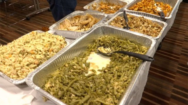 A free homemade meal was given out to all on Thanksgiving in Connecticut. (WFSB)