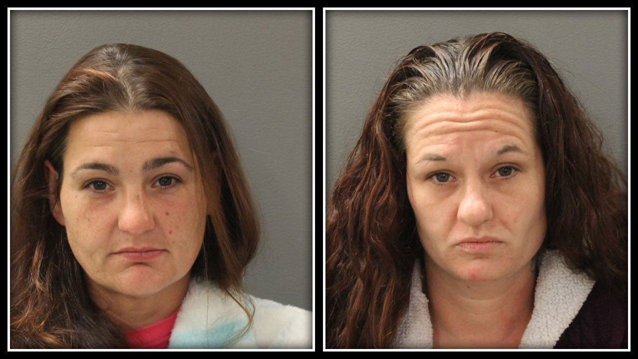 Crystal Frazier and Jennifer Frazier were two of three people arrested after police said they say stole an elderly man's wallet in a supermarket and then used his credit cards to make hundreds of dollars in purchases. (Hamden Police Department)