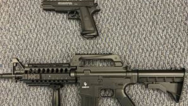Senator Richard Blumenthal is urging toy makers to put colorful markings on toy guns to help distinguish them from real guns. (Blumenthal's office)