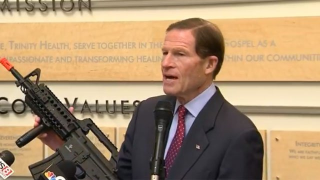 U.S. Sen. Richard Blumenthal is pushing for a toy gun bill. (WFSB)