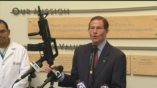 VIDEO: Sen. Blumenthal pushes toy gun bill