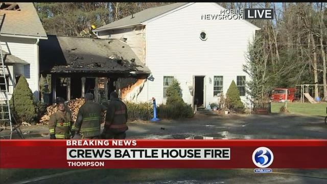 VIDEO: 6 people displaced after first-alarm fire in Thompson
