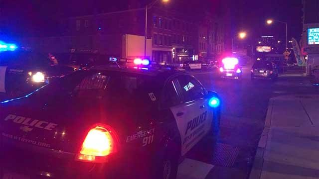A person was struck and killed by a car in Waterbury Sunday evening (WFSB)